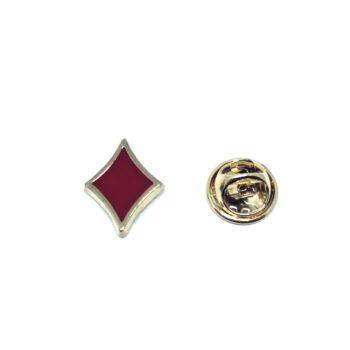 Poker Diamonds Enamel Lapel Pin