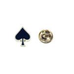 Poker Spades Enamel Lapel Pin