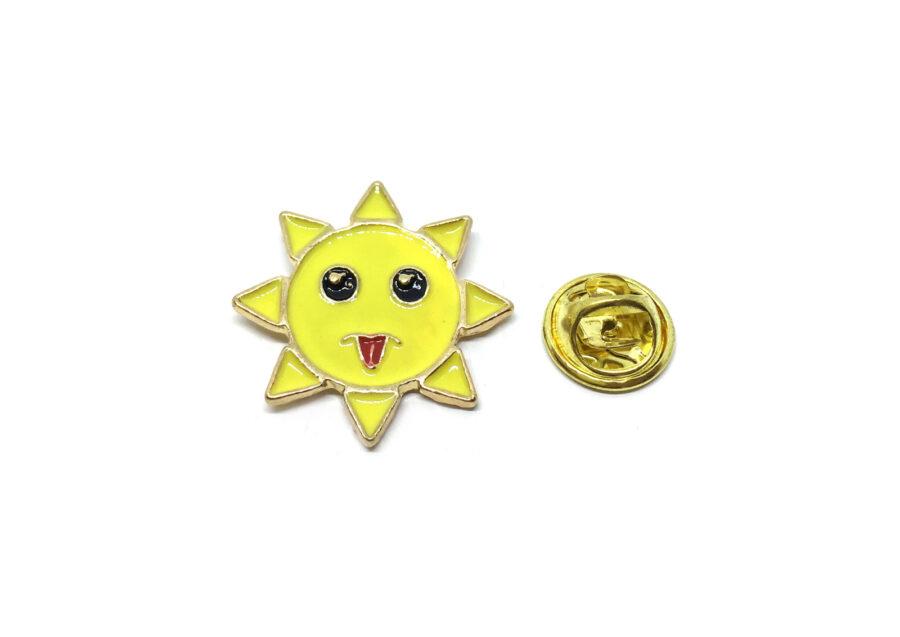 Sun Enamel Lapel Pin