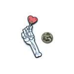 Skull Hand Enamel Lapel Pin