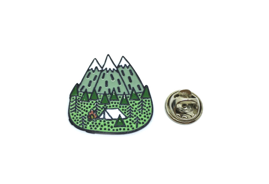 Green Enamel Lapel Pin