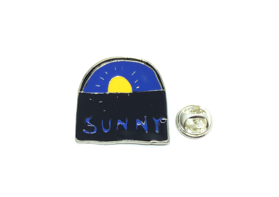 Sunny Enamel Lapel Pin