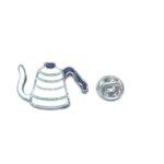 Tea Kettle Enamel Lapel Pin