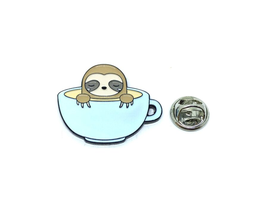 Coffee Enamel Lapel Pin