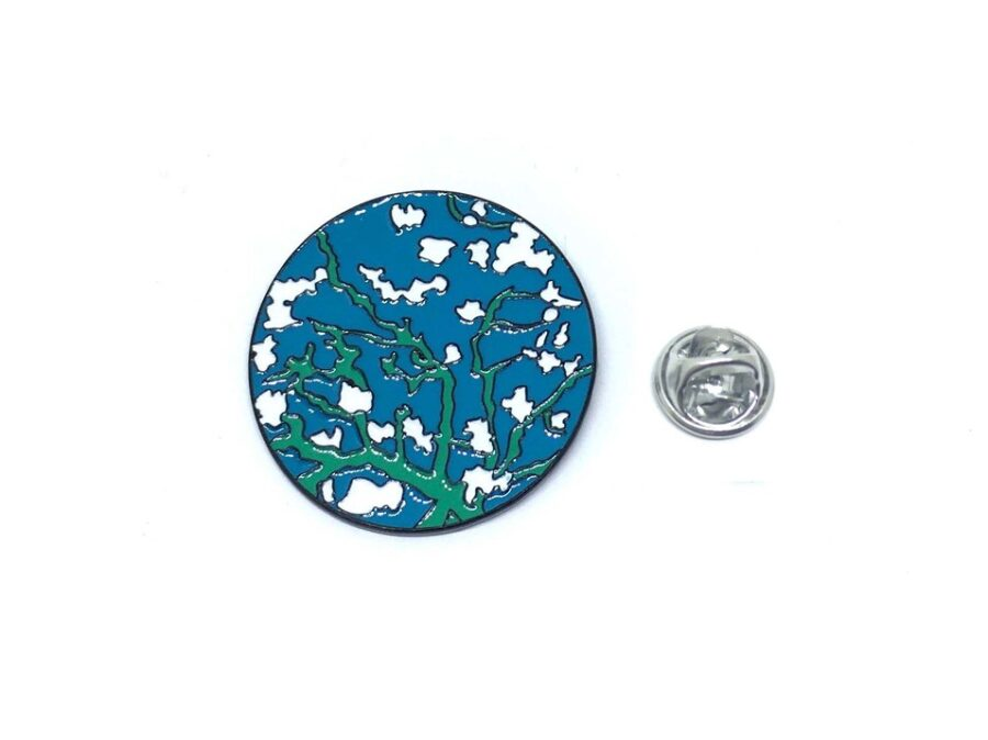 Tree Blue Enamel Lapel Pin