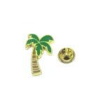 Gold plated Palm Tree Enamel Lapel Pin