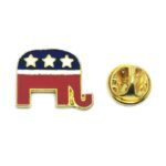 Republic Elephant Flag Lapel Pin