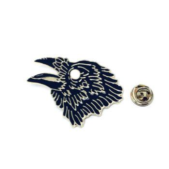 Black Enamel Eagle Lapel Pin