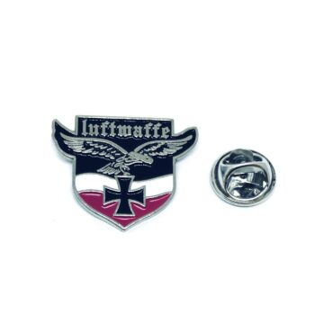 Silver plated Enamel Eagle Lapel Pin