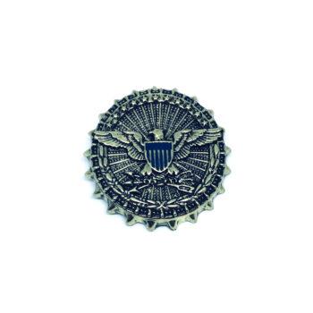 Enamel Eagle Brooch Pin