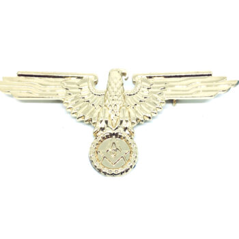 Gold plated Enamel Eagle Brooch Pin
