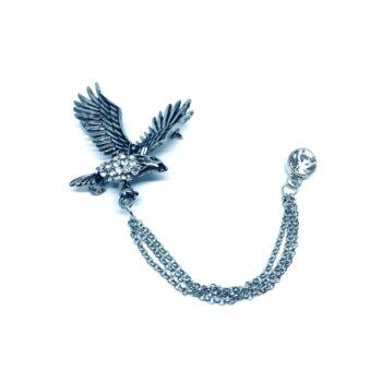 Crystal Eagle Pin