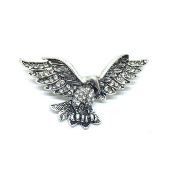 Crystal Rhinestone Eagle Lapel Pin
