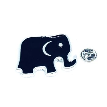 Black Elephant Lapel Pin