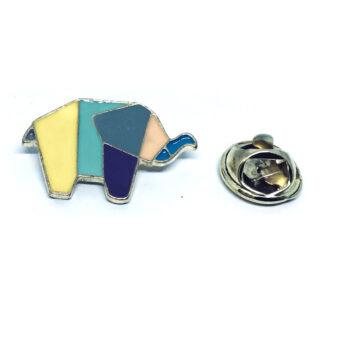 Elephant Enamel Lapel Pin