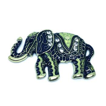 Crystal Elephant Pin