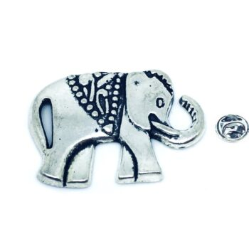 Silver plated Elephant Pin