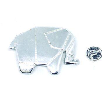 Silver tone Elephant Pin