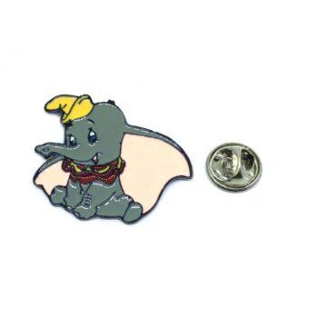 Silver platting Enamel Elephant Pin