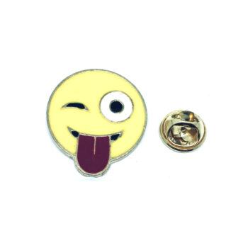 Gold plated Enamel Emoji Pin