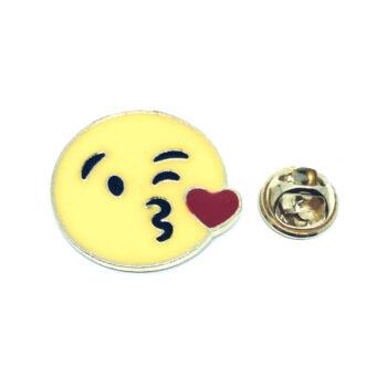 Gold plated Enamel Emoji Lapel Pin