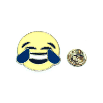 Gold tone Enamel Emoji Pin