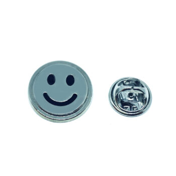 Silver plated Emoji Pin