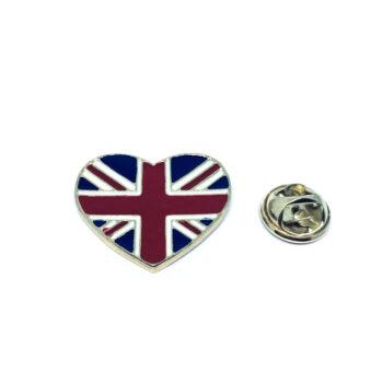 The UK Heart Flag Lapel Pin