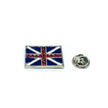 Crystal The UK Flag Lapel Pin