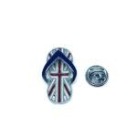 The UK Slipper Flag Lapel Pin