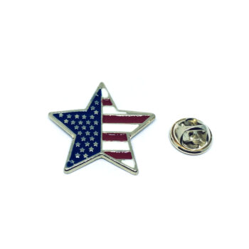 Star American Flag Pin