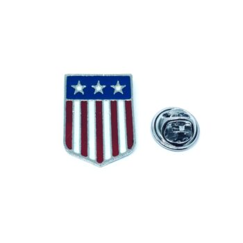 Silver plated Enamel American Flag Pin