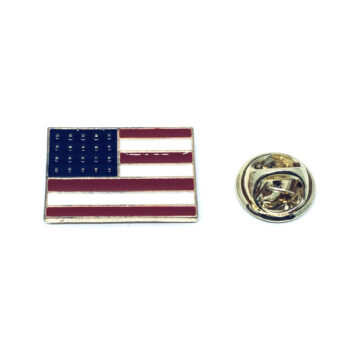 Gold plated Enamel American Flag Pin