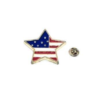 Star American Flag Lapel Pin