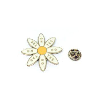 Gold plated Enamel Flower Pin
