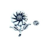 Silver plated Flower Pin