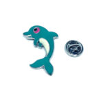 Blue Sapphire Fish Pin