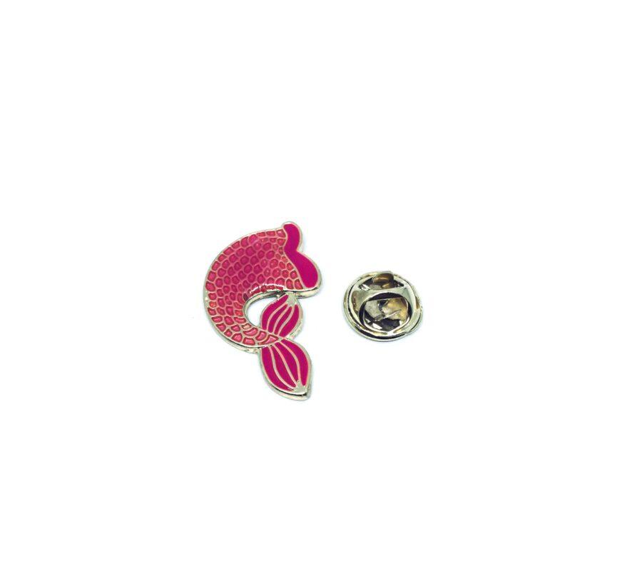 Red Enamel Fish Lapel Pin