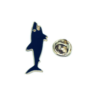 White Enamel Fish Lapel Pin