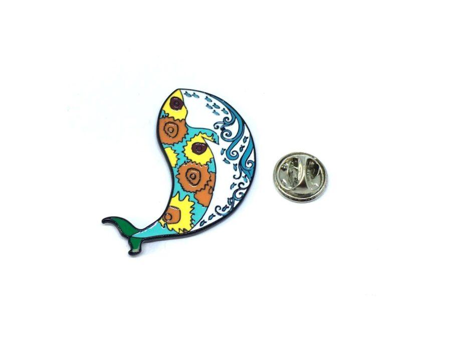 Multi-color Enamel Fish Lapel Pin