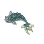 Enamel Fish Brooch Pin
