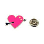 Arrow Enamel Heart Pin