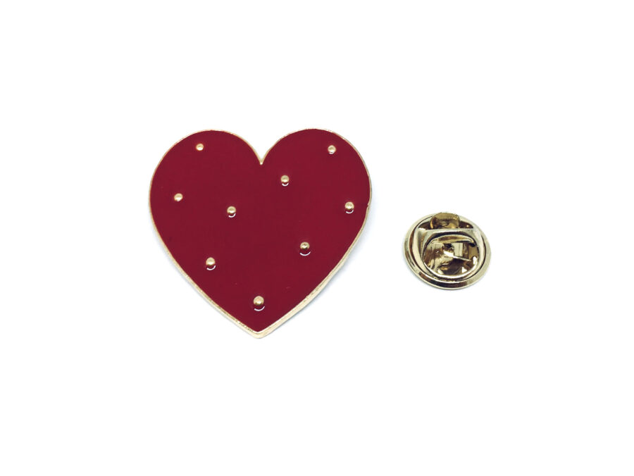 Red Heart Lapel Pin