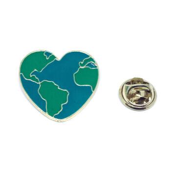 Earth Heart Lapel Pin