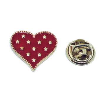 Star Enamel Heart Pin