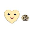 Emoji Enamel Heart Pin