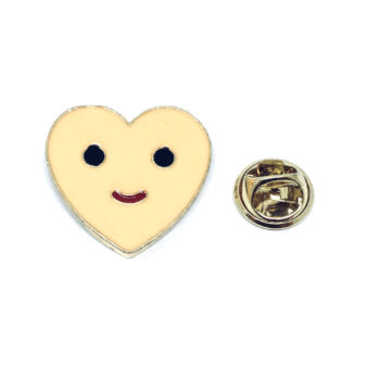 Emoji Enamel Heart Pin