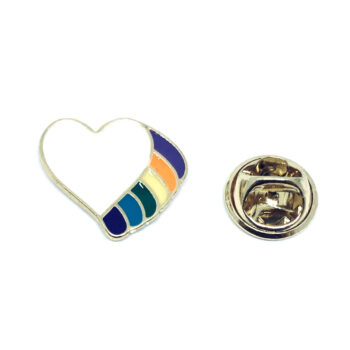 Heart Wing Lapel Pin