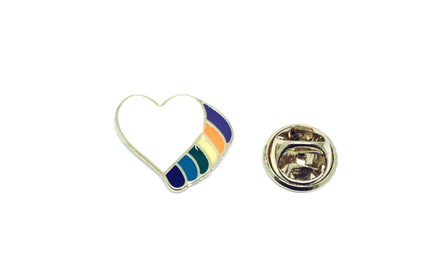 Heart Wing Lapel Pin