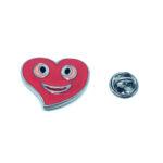 Red Enamel Heart Lapel Pin